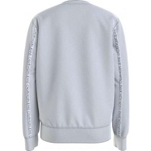 Calvin klein kids boys logo piping sweatshirt sweater trui in de kleur grijs