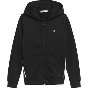 Calvin klein kids boys monogram logo piping zip through vest in de kleur zwart