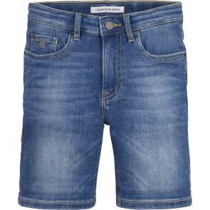 Calvin klein kids boys regular short korte broek in de kleur jeansblauw