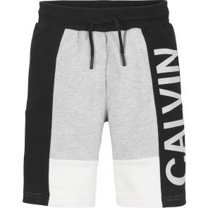 Calvin klein kids boys korte broek color block jogger in de kleur zwart/grijs