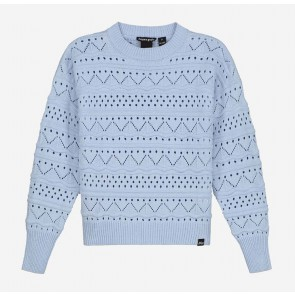 Nik en Nik kids girls Anka gebreide trui sweater trui in de kleur soft blue