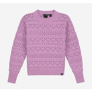 Nik en Nik kids girls Anka gebreide trui sweater trui in de kleur raspberry lila