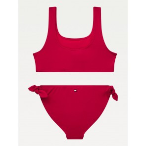 Tommy Hilfiger kids girls bikini bralette set in de kleur rood