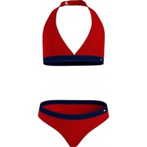 Tommy Hilfiger kids girls bikini triangle set in de kleur rood/blauw