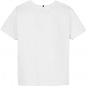 Tommy Hilfiger kids girls flag print tee shirt in de kleur wit