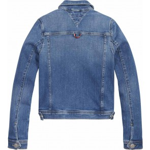 Tommy Hilfiger kids girls regular trucker jacket in de kleur jeansblauw
