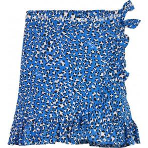 Tommy Hilfiger kids girls leopard print wrap skirt rok in de kleur blauw