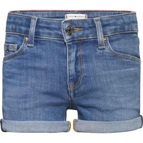 Tommy Hilfiger kids girls Basic Nora short korte broek in de kleur jeansblauw
