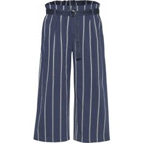 Tommy Hilfiger kids girls stripe pants wijde broek in de kleur donkerblauw