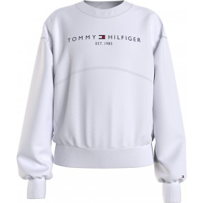 Tommy Hilfiger kids girls essential sweatshirt sweater trui in de kleur wit