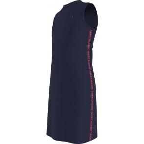 Tommy Hilfiger kids girls tommy tape sports dress in de kleur donkerblauw