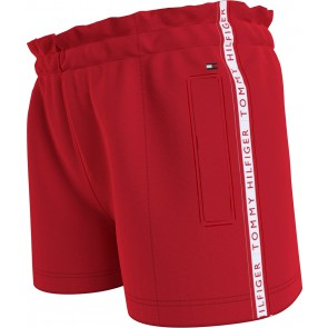 Tommy Hilfiger kids girls tape tracksuit shorts korte broek in de kleur rood