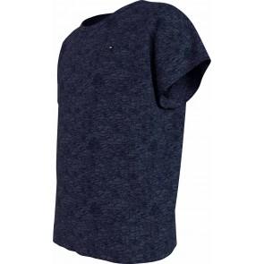 Tommy Hilfiger kids girls slub knit top in de kleur donkerblauw