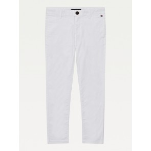 Tommy Hilfiger kids boys essential flex skinny chino pants broek in de kleur wit