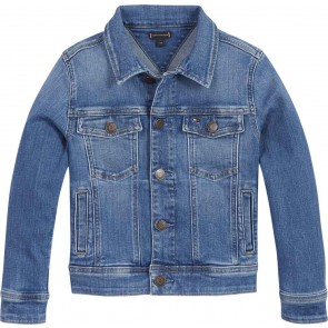 Tommy Hilfiger kids boys regular trucker jacket in de kleur jeansblauw