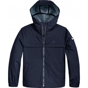 Tommy Hilfiger kids boys coated jacket zomerjas in de kleur donkerblauw