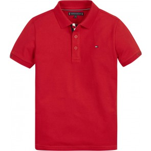 Tommy Hilfiger kids boys slim fit polo shirt in de kleur rood