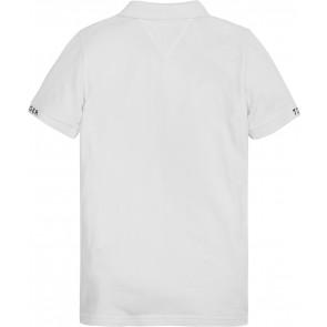 Tommy Hilfiger kids boys slim fit polo shirt in de kleur wit