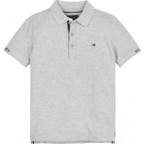 Tommy Hilfiger kids boys slim fit polo shirt in de kleur grijs