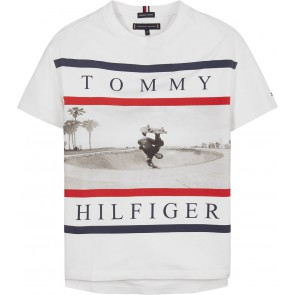 Tommy Hilfiger kids boys photoprint tee t-shirt in de kleur wit