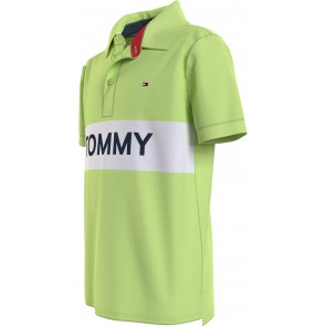 Tommy Hilfiger kids boys tommy blocking polo shirt in de kleur lime green