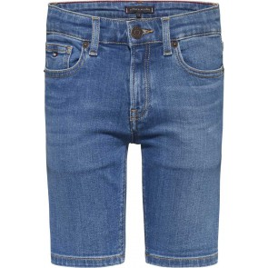 Tommy Hilfiger kids boys spencer short korte broek in de kleur jeansblauw