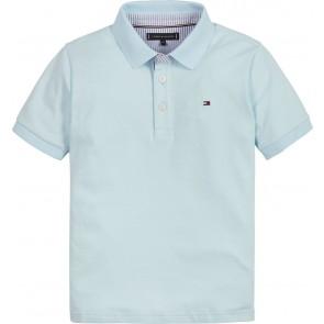 Tommy Hilfiger kids boys ithaca polo shirt in de kleur frost blue lichtblauw