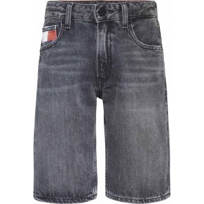 Tommy Hilfiger kids boys modern straight jeans short in de kleur antraciet grijs