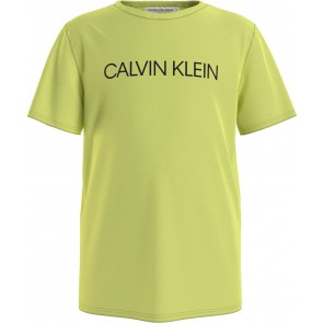 Calvin Klein kids boys institutional t-shirt in de kleur lime groen