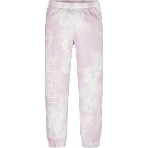 Calvin Klein kids girls cloud all over print sweatpants broek in de kleur roze