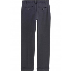 Hugo Boss kids boys stretch pantalon chino broek met logo band in de kleur donkerblauw