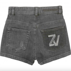 Zadig en Voltaire kids girls jeans short in de kleur antraciet grijs