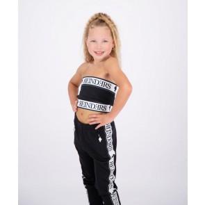 Reinders kids girls bandeau top met logo band in de kleur zwart