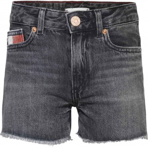 Tommy hilfiger kids girls denim harper short in de kleur antraciet grijs