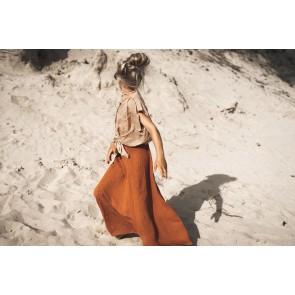 Circle of trust girls lange maxi rok Abbie in de kleur roestbruin oranje