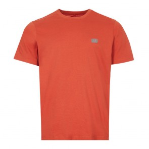 CP Company undersixteen kids t-shirt mini logo in de kleur roestoranje