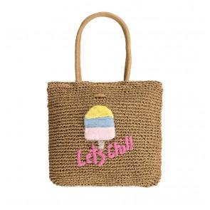 Barts kids bongo bag met ijsje in de kleur zand