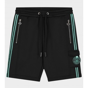 Black Bananas junior kids unity short korte broek in de kleur zwart/aqua