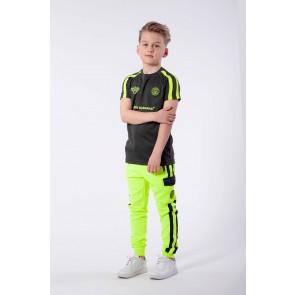Black Bananas junior kids FC match t-shirt in de kleur grijs/geel