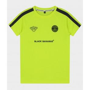 Black Bananas junior kids FC match t-shirt in de kleur neon geel