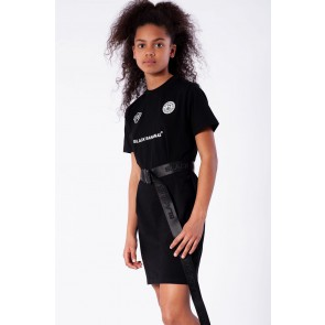 Black Bananas junior kids girls tee dress jurk in de kleur zwart