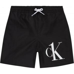 Calvin klein kids boys swimpants met logo in de kleur zwart