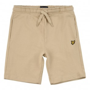 Lyle and Scott junior sweat shorts korte broek in de kleur zand