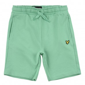 Lyle and Scott junior sweat shorts korte broek in de kleur bright green groen