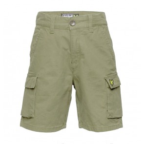 Lyle and Scott junior cargo pants korte broek in de kleur army green
