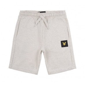 Lyle and Scott junior sweat short korte broek in de kleur lichtgrijs