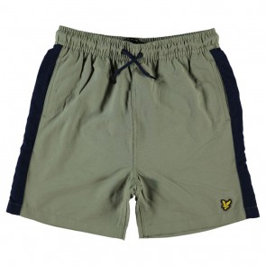 Lyle and Scott junior swimshorts zwembroek in de kleur army met bies green groen