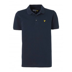 Lyle and Scott junior pique polo t-shirt in de kleur donkerblauw