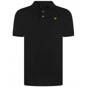 Lyle and Scott junior pique polo t-shirt in de kleur zwart