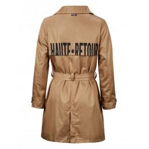 Retour denim deluxe Esmee trenchcoat zomerjas in de kleur zand